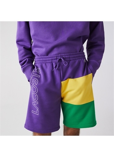 Lacoste Lacoste Erkek Regular Fit Baskılı Renkli Şort Renkli